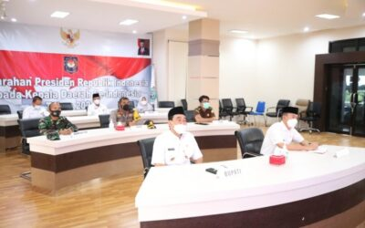 BUPATI TANBU IKUTI VIRTUAL RAKOR KEPALA DAERAH SE INDONESIA
